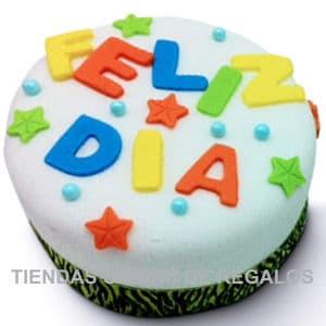 lafrutita.com - Torta Vainilla Decorada Feliz Dia  - Codigo:GBH24 - Detalles: Torta Vainilla Decorada Feliz Dia  - - Para mayores informes llamenos al Telf: 225-5120 o 476-0753.
