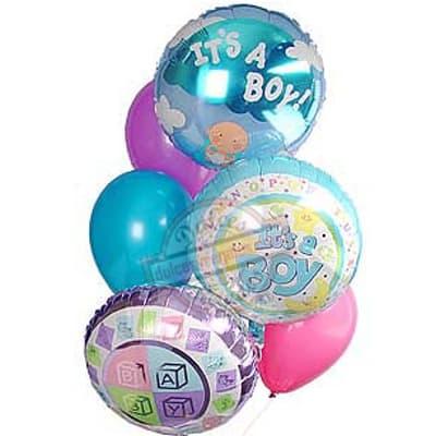 Tortas.com.pe - Bouquet de Globo 01 - Codigo:GBN01 - Detalles: Impresionante Bouquet compuesto por 3 globos metalicos con el texto IT�S A BOY con helio incluye globos multicolores.  - - Para mayores informes llamenos al Telf: 225-5120 o 476-0753.