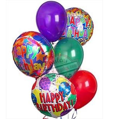 Bouquet de Globo Happy Birthday - Cod:GBN02