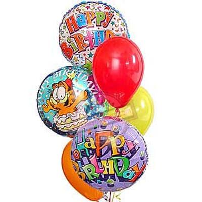 Tortas.com.pe - Bouquet de globo 04 - Codigo:GBN04 - Detalles: Lindo detalle compuesto por 3  globos metalicos con helio decorado incluyendo globos multicolores, para ese momento tan especial. - - Para mayores informes llamenos al Telf: 225-5120 o 476-0753.