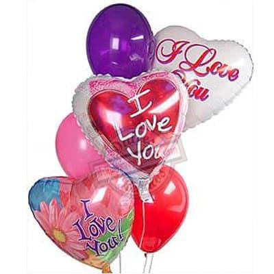 Bouquet de globos Te amo - Cod:GBN08