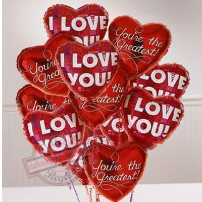 Bouquet de globo i Love You - Cod:GBN12