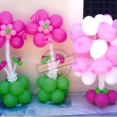 Flores de Globos para regalar | Imágenes de Flores de globos | Flores de globos - Cod:GBT06