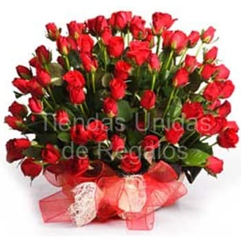 Grameco.com - Elegancia de 60 rosas - Codigo:GCM01 - Detalles: Base de ceramica, 60 rosas importadas segun imagen. altura del arreglo de 70cm. Incluye tarjeta de dedicatoria y follaje de estaci�n. - - Para mayores informes llamenos al Telf: 225-5120 o 476-0753.