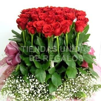 San Valentin Arreglo de 40 Rosas Rojas - Cod:SBR33