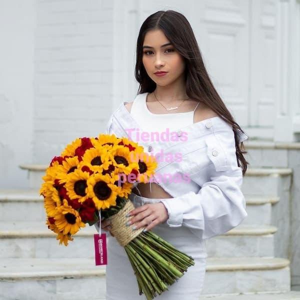 Arreglo con Rosas Gigante de 45 rosas - Cod:GCM10