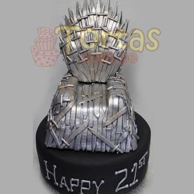Torta con tema Juego de los Tronos | Imágenes de tortas de juego de tronos - Cod:GFT04