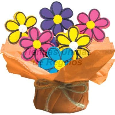 Galletas Decoradas en forma de flores | Galletas Decoradas - Cod:GLA11