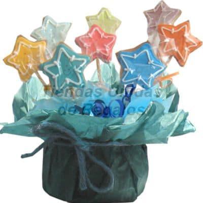 Galletas Decoradas en forma de Estrellas - Cod:GLA12
