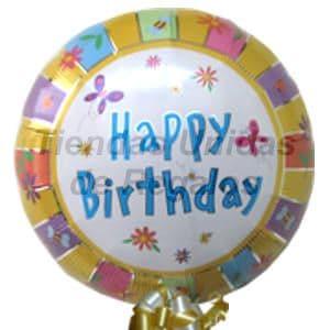 Globo 04 - Codigo:GLL04 - Detalles: Globo metalico de 20 cm con texto Happy Birthday. - - Para mayores informes llamenos al Telf: 225-5120 o 4760-753.