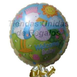 Globo 13 - Codigo:GLL13 - Detalles: Globo metalico de 20 cm con texto Welcome Baby. - - Para mayores informes llamenos al Telf: 225-5120 o 4760-753.
