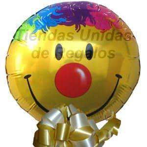Globo 15 - Codigo:GLL15 - Detalles: Globo metalico de 20 cm con imagen el de una carita feliz. - - Para mayores informes llamenos al Telf: 225-5120 o 4760-753.