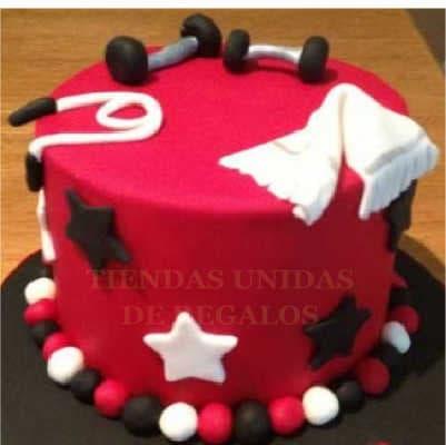 Gym Cake | torta Gimnasio | Torta Inspirtada Gymnasio - Cod:GMS02