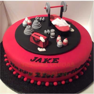Weightlifters cake | Pastel de gym | Torta pesas gimnasio - Whatsapp: 980-660044