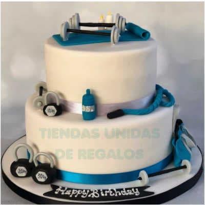 Crossfit cake | Tortas temáticas | Torta Pesista y pesas - Whatsapp: 980-660044