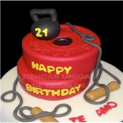 Crossfit cake | Tortas temáticas | Torta kettlebell Grande - Whatsapp: 980-660044