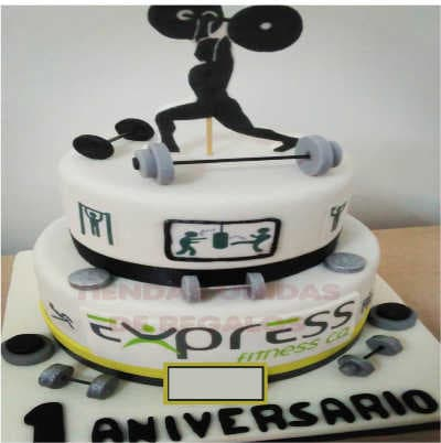 Bodybuilding cake Más | Pastel de gimnasio | Torta Pesista con pesas - Whatsapp: 980-660044