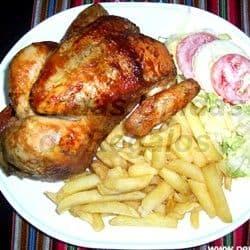 Cena Romantica a Domicilio | Pollo a la Brasa con papas fritas y ensalada - Cod:GUR08