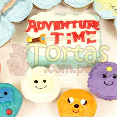Torta Hora Aventura y Muffins | Torta hora de aventura - Cod:HAT01