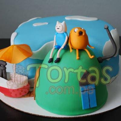Torta Adventure Time | Torta Hora de Aventura - Adventure Time Cake - Whatsapp: 980-660044