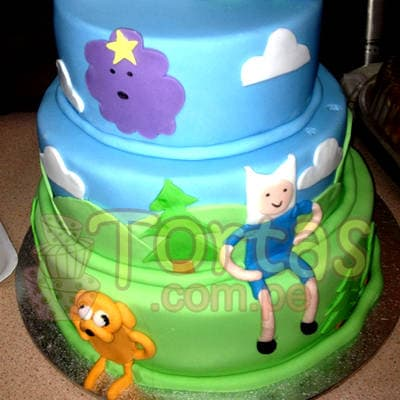 Torta Hora Aventura | Torta Hora de Aventura - Adventure Time Cake - Whatsapp: 980-660044