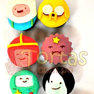 Muffins Hora Aventura | Torta Hora de Aventura - Adventure Time Cake - Whatsapp: 980-660044