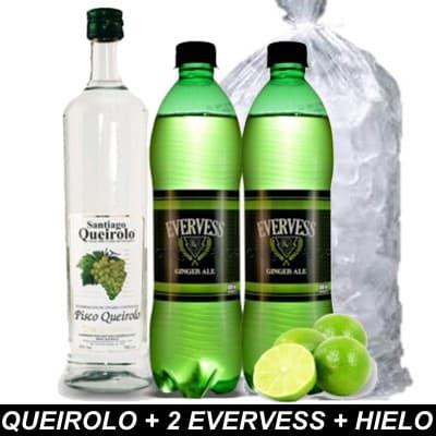 I-quiero.com - QUEIROLO + 2 EVERVESS + HIELO - Codigo:HLK05 - Detalles: Botella Pisco Queirolo de 750ml, 2 evervess de 1.5 litros cada uno y hielo de 2kilos - - Para mayores informes llamenos al Telf: 225-5120 o 476-0753.