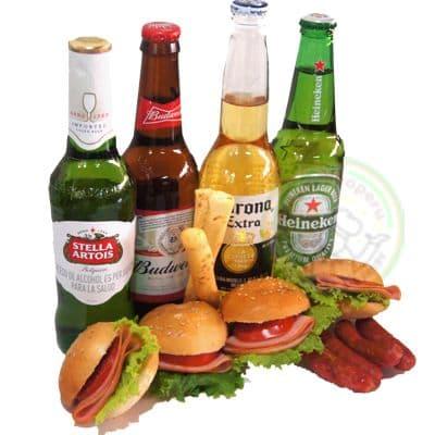 Piqueo de Amistad | Pack con cerveza Pilsen Para Regalar con Delivery | Rosatel - Cod:IDA20