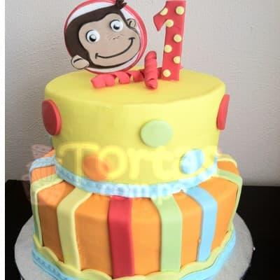 Torta Jorge el Curioso | Cumpleaños de jorge el curioso | Torta Jorge El curioso - Cod:JMC01