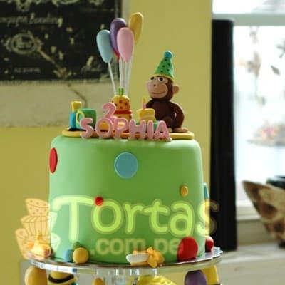 Torta Jorge el Curioso | Cumpleaños de jorge el curioso | Torta de tema Jorge El curioso - Cod:JMC04