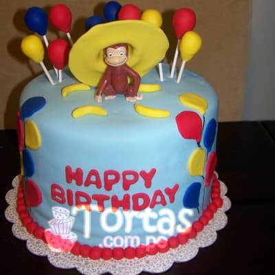 Torta de Jorge El Curioso | Torta Jorge El curioso mediana - Whatsapp: 980-660044