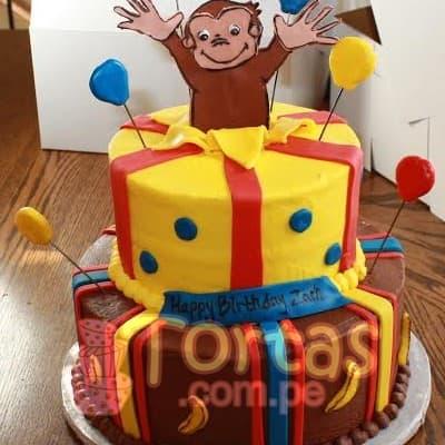Torta de Jorge El Curioso | Torta de tematica Jorge El curioso - Cod:JMC08
