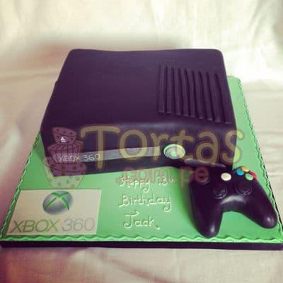 Torta XBox360 | Torta XBox | Pastel de xbox | Fiesta xbox - Cod:JVD02