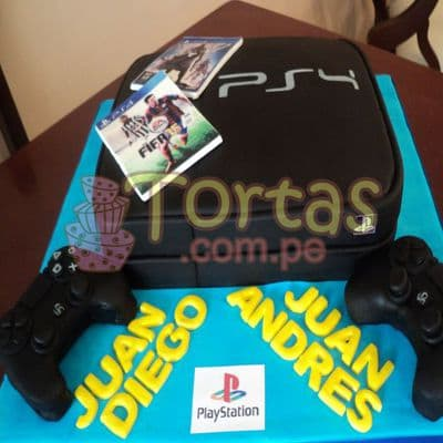 Torta Play Station 4 - Whatsapp: 980-660044