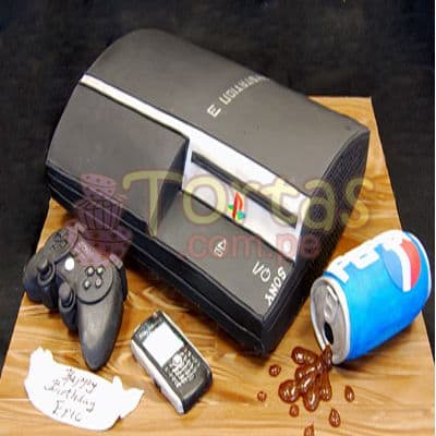 Torta PlayStation 3 | Torta Play Station | PS3 Cake - Whatsapp: 980-660044