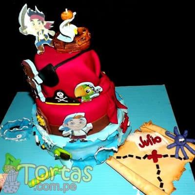 Torta de Jake y los Piratas del nunca Jamás | Fiesta de piratas | Torta Jake y Piratas - Cod:JYP01