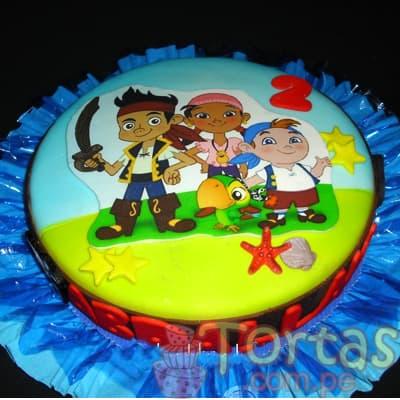 Torta tematica Jake y piratas - Cod:JYP06