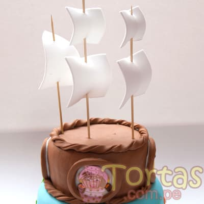 Torta modelada Jake y Piratas - Whatsapp: 980-660044