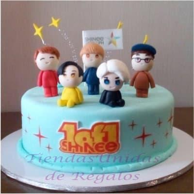 Torta Shinee 1 | Kpop Cakes | Tortas Coreanas - Whatsapp: 980-660044