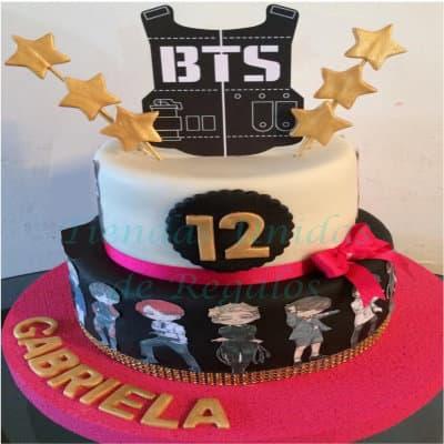Torta BTS 4 | Kpop Cakes | Tortas Coreanas - Whatsapp: 980-660044