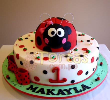 Torta de Mariquita - Codigo:LBB02 - Whatsapp: 980-660044.