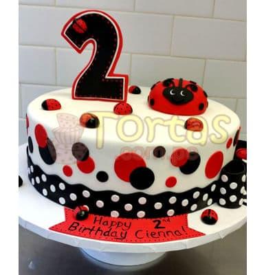 Torta Lady Bug - Codigo:LBB04 - Whatsapp: 980-660044.