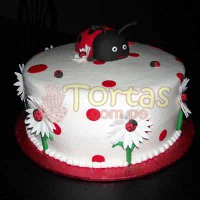 Deliregalos.com - Torta Mariquita 11 - Codigo:LBB11 - Detalles: Keke De Vainilla   el keke esta finamente decorado en masa el�stica, Medida:25 cm de diametro, dise�o segun imagen - - Para mayores informes llamenos al Telf: 225-5120 o 476-0753.
