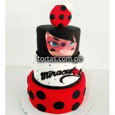 Torta Lady Bug | Torta Miraculus - Whatsapp: 980-660044