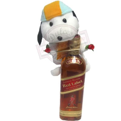 Desayunosperu.com - Johnnie Walker Red Label + Lindo Peluche - Codigo:LCD02 - Detalles: Whisky Johnnie Walker Red label (old Scotch whisky)