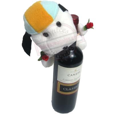 I-quiero.com - Vino Canepa Sauvignon + Peluche - Codigo:LCD09 - Detalles: Vino Canepa (cabernet sauvignon) (cl�sico) Volumen: 750ml. Descripci�n: tiene aroma frutales a cassis, ciruelas y frutos secos.  Incluye de Cortes�a un lindo peluche. Este producto deber� ordenarse con 3 dia �til de anticipaci�n. El peluche es referencia y podr� ser cambiado. por uno similar y de igual precio. El color y modelo del peluche es referencial - - Para mayores informes llamenos al Telf: 225-5120 o 476-0753.
