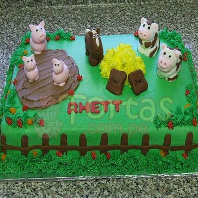 Torta la Granja de Zenon | Torta con tematica de la Granja  - Whatsapp: 980-660044