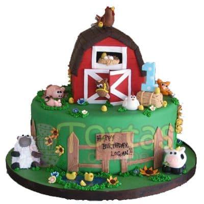 Torta de la Granja | Tarta infantil |  Torta de granja | Tortas de la granja - Cod:LGM11