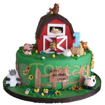 Torta de la Granja | Tarta infantil |  Torta de granja | Tortas de la granja - Whatsapp: 980-660044
