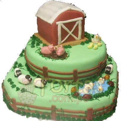 Torta la Granjita | Tarta infantil |  Torta de granja | Tortas de la granja - Cod:LGM12